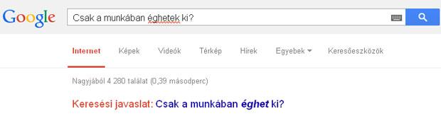 Furcsa válasz a Google barátomtól....